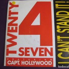 Discos de vinilo - Twenty 4 Seven + Capt. Hollywood Sg BLANCO Y NEGRO 1990 - I Can't Stand It - EUROHOUSE - ELECTRONICA - 156587214