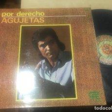 Discos de vinilo: AGUJETAS - POR DERECHO LP PROMOCIONAL EXPLOSION 75 PORTADA DOBLE FLAMENCO. Lote 156588822