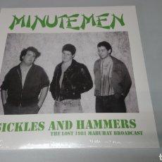 Discos de vinilo: MINUTEMEN - SICKLES AND HAMMERS THE LOST 1981 MABUHAY BROADCASTS - LP VINILO NUEVO, PRECINTADO. Lote 156589536