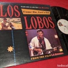 Discos de vinilo: LOS LOBOS COME ON LET'S GO/LA BAMBA +2 12 MX 1987 LONDON SPAIN ESPAÑA BSO OST LA BAMBA. Lote 156595530