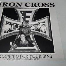 Discos de vinilo: IRON CROSS - CRUCIFIED FOR YOUR SINS. LP VINILO NUEVO. Lote 156601722