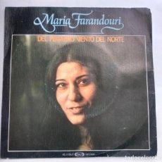 Discos de vinilo: MARÍA FARANDOURI - DEL PEQUEÑO VIENTO DEL NORTE. Lote 156603050