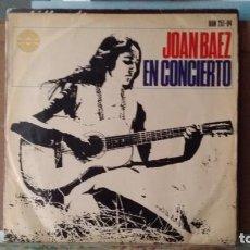 Discos de vinilo: *** JOAN BAEZ - EN CONCIERTO - NUEVA YORK 1966 - MONO MICROSURCO 1ª TIRADA - LEER DESCRIPCIÓN. Lote 156603882