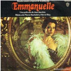 Discos de vinilo: PIERRE BACHELET Y HERVE ROY - BSO EMMANUELLE (VERSION EN FRANCES E INGLES) - SINGLE 1975. Lote 156605494