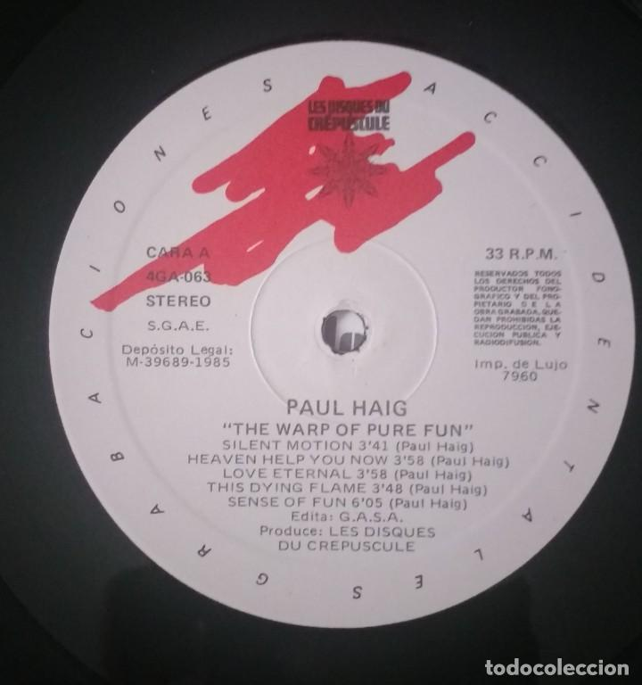 Discos de vinilo: PAUL HAIG - THE WARP OF PURE FUN - Foto 3 - 156605654
