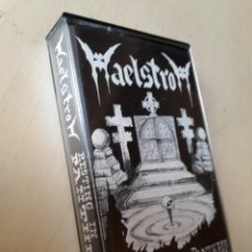 Discos de vinilo: MAELSTROM-RESTING IN THE PANTHEON-K7 MAQUETA 1990-SPANISH DEATH-THRASH-5 SONGS-RARE-KULT. Lote 156607130