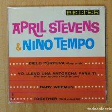 Discos de vinilo: APRIL STEVENS & NINO TEMPO - CIELO PURPURA + 3 - EP. Lote 156612822