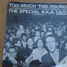 Discos de vinilo: THE SPECIAL A.K.A. FEATURING RICO TOO MUCH TOO YOUNG EP SPAIN. Lote 156615162
