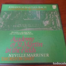 Discos de vinilo: J.S.BACH-CONCERTOS DE BRANDEBURGO-PRIMERA GRABACION DE LA VERSION ORIGINAL. Lote 156622734