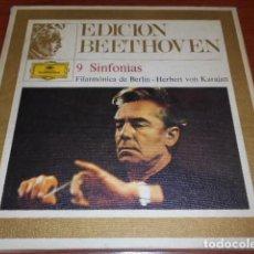 Discos de vinilo: EDICION BEETHOVEN-9 SINFONÍAS -8 DISCOS DE VINILLO. Lote 156622870