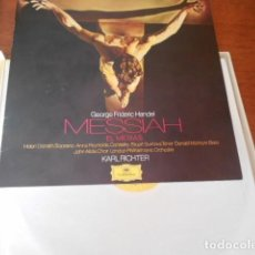 Discos de vinilo: 3LP HANDEL MESSIAH EL MESIAS KARL RICHTER DEUTSCHE GRAMMOPHON. Lote 156623730
