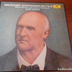 Discos de vinilo: BRUCKNER - SYMPHONIEN NR. 7 Y 8. KARL BOHM 3 DISCOS DE VINILLOS. Lote 156623894
