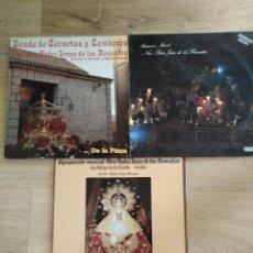Discos de vinilo: LOTE 3 LP DE SEMANA SANTA. Lote 156624702