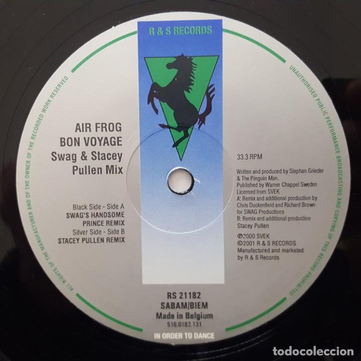 Discos de vinilo: MAXI / Air Frog ?– Bon Voyage (Swag & Stacey Pullen Mix) / 2001 BELGICA - Foto 4 - 176015437
