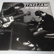 Discos de vinilo: THE JAM - SET THE RITZ ABLAZE. NEW YORK RITZ 26TH MAY 1981. LP VINILO NUEVO. Lote 156628854