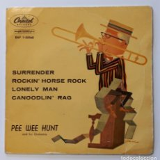 Discos de vinilo: PEE WEE HUNT AND HIS ORCHESTRA - SURRENDER EP - JAZZ - SWING. Lote 156628914