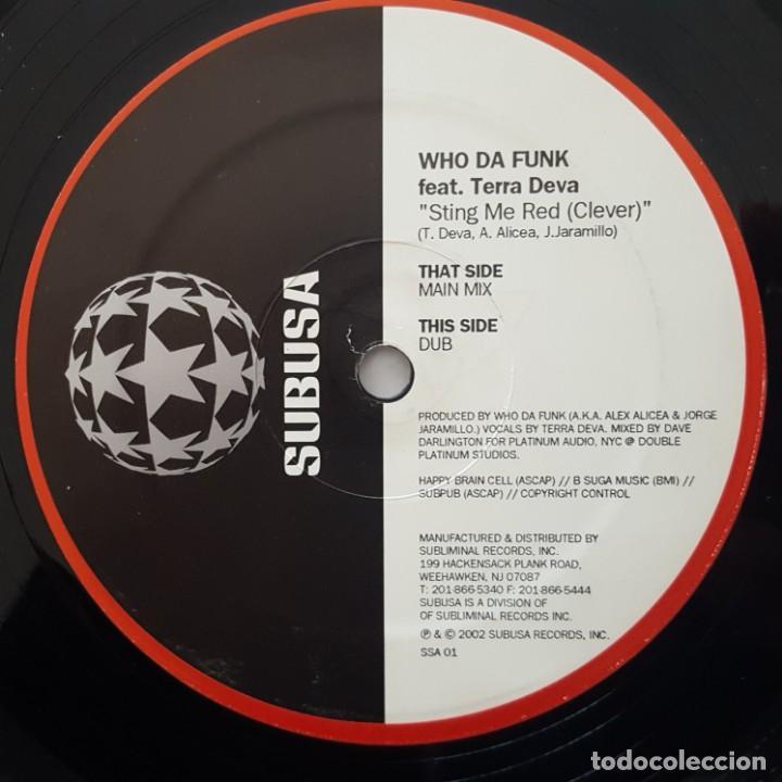 Discos de vinilo: MAXI / Who Da Funk Feat. Terra Deva ?– Sting Me Red (Clever) / 2002 USA - Foto 3 - 156629738