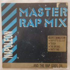 Discos de vinilo: MAXI / NAPOLEON* ?– MASTER RAP MIX (...AND THE RAP GOES ON...) / 1988 ESPAÑA. Lote 156632530