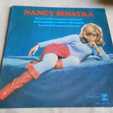 Discos de vinilo: NANCY SINATRA, EP, ESTAS BOTAS SON PARA CAMINAR + 3, AÑO 1965. Lote 156632834