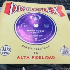 Discos de vinilo: ROGER ROGER CON GEORGES JOUVIN SINGLE DISCOFLEX EL MAR / LA PALOMA ESPAÑA 1962. Lote 156637525