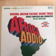 Discos de vinilo: ADDIO AFRICA- ADIOS AFRICA- LP BSO MADE IN USA UNITED ARTIST- RIZ ORTOLANI. Lote 156640713