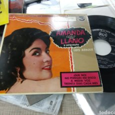 Discos de vinilo: AMANDA DEL LLANO EP ¡QUE NO! + 3. Lote 156643948