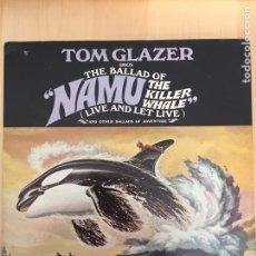 Discos de vinilo: NAMU LA BALLENA SALVAJE- LP BSO MADE IN USA- UNITED ARTISTS 1966- TOM GLAZER. Lote 156645521