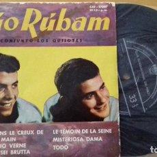 Discos de vinilo: DÚO RÚBAM Y CONJUNTO LOS QUIJOTES-EP 6 TEMAS A 33 R.P.M.-CID 17097 AÑO 1961-BUEN ESTADO. Lote 156651686