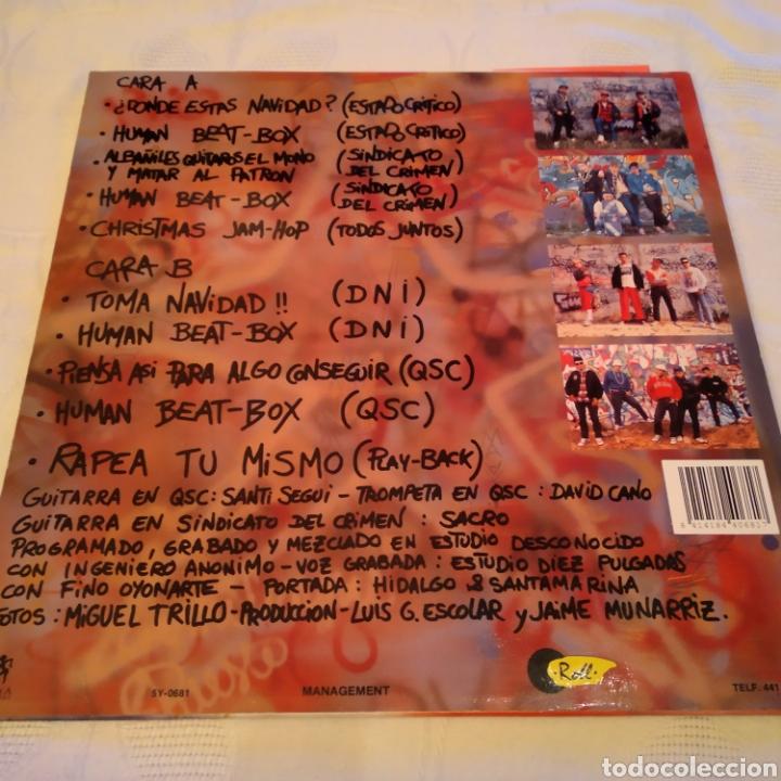 Discos de vinilo: NAVIDAD HIP HOP. LP 1989. CONTIENE ENCARTE - Foto 2 - 156654242