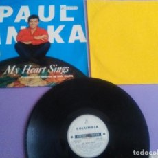 Discos de vinilo: GENIAL LP. PAUL ANKA,MY HEART SINGS, MADE IN ITALIA. SCXQ 8251 ABC PARAMOUNT RECORDING.. Lote 156654462