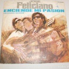 Discos de vinilo: SINGLE JOSÉ FELICIANO. ENCIENDE MI PASIÓN. CALIFORNIA DREAMIN'. RCA 1968 SPAIN (PROBADO Y BIEN). Lote 156663894