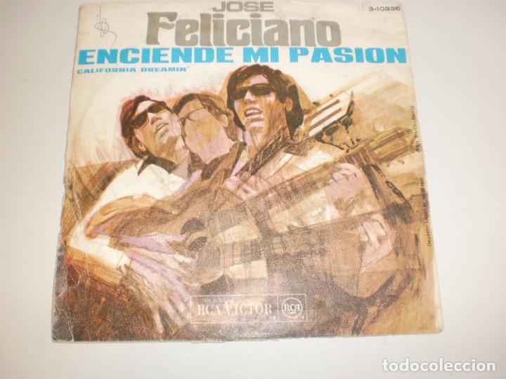 Discos de vinilo: single josé feliciano. enciende mi pasión. california dreamin'. rca 1968 spain (probado y bien) - Foto 2 - 156663894