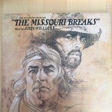 Discos de vinilo: THE MISSOURI BREAKS- LP BSO UNITED ARTISTS- MADE IN USA 1976-JOHN WILLIAMS. Lote 156690020