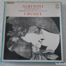 Discos de vinilo: ALBINONI. 12 CONCERTI, OP. 1O. ROBERTO MICHELUCCI, VIOLIN. I MUSICI. PHILIPS. ESTUCHE CON 3 LPS, VIN. Lote 156691362