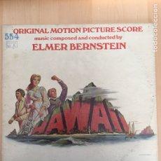 Discos de vinilo: HAWII- LP BSO MADE IN USA-UNITED ARTISTS 1966-ELMER BERNSTEIN. Lote 156693544