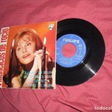 Discos de vinilo: ROCIO DURCAL CON PACO DE LUCIA Y ESCOLANIA. EP VILLANCICOS DE ROCIO. Lote 156711662