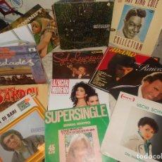 Discos de vinilo: LOTE 12 LP KING COLE MOCEDADES SERRAT ADAMO CONNIFF J. IGLESIAS, POP MUNDIAL, JAZZ, DOBLES... Lote 156713734