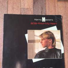 Discos de vinilo: KENNY MASTERS - SOS FIRE IN MY HEART 1985 (SYNTH POP). Lote 156726217