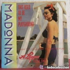 Discos de vinilo: MADONNA, THIS USED TO BE MY PLAYGROUND (2 VERSIONES ) SINGLE EUROPE 1992. Lote 156730914