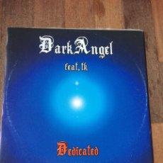 "Discos de vinilo: DARK ANGEL - DEDICATED / CALVARUSO - MAKE YOU LOVE 12"" ITALODANCE 2005. Lote 156739646"