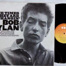 Discos de vinilo: BOB DYLAN. THE TIMES THEY ARE A-CHANGIN'. LP MONO CBS 62251. ITALY 1978. EDICIÓN ITALIANA. . Lote 156741666