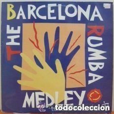 Discos de vinilo: THE BARCELONA RUMBA MEDLEY - LOS AMAYA, LOS MANOLOS, PERET - MAXI-SINGLE SPAIN 1992. Lote 156746150