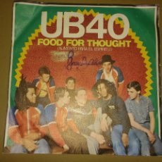 Discos de vinilo: UB40 - FOOD FOR THOUGHT . Lote 156748942