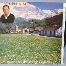 Discos de vinilo: LP. DE LA MINA A LA BRAÑA. ANTONIO LOPEZ BRAÑAS. Lote 156757194