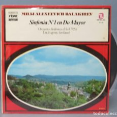 Discos de vinilo: LP. BALAKIREV. SINFONIA Nº1 EN DO MAYOR. Lote 156757578