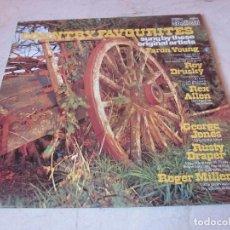 Discos de vinilo: COUNTRY FAVOURITES LP - CONTOUR RECORDS. Lote 156785350