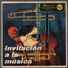 Discos de vinilo: INVITACION A LA MUSICA - VARIOS - SINGLE RCA DE 1960 RF-3766. Lote 156786422