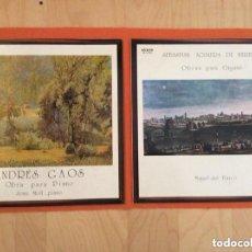 Discos de vinilo: ANDRES GAOS PIANO SEBASTIAN AGUILERA HEREDIA LOTE 2DISCOS. Lote 156787398