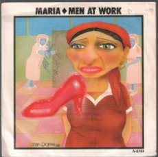 Discos de vinilo: MEN AT WORK - MARIA / SNAKES AND LADDERS - SINGLE CBS DE 1985 RF-3776. Lote 156787662