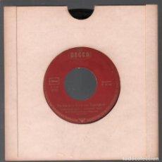 Discos de vinilo: DU BIST KEIN KIND VON TRAURIGKEIT / HEINI IS DOOF / SINGLE DECCA RF-3778. Lote 156788018